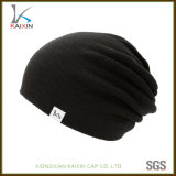 Hip Hop Black Beanie Knitted Cheap Winter Cap and Hat