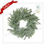 Promotion Preserved Wreath Decoration with Snow, Artificial Wreath H30-H48cm