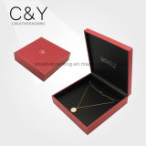 Red Plastic Packaging Box for Necklace