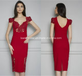 Sheath Red Knee-Length Prom Party Mother Gowns New Evening Dresses Z7052