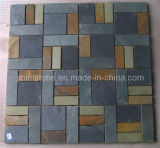 China Slate Paving Patterns on Mesh for Flooring Stone/ Outdoor Garden