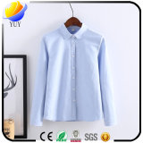 Wash Oxford Blouse Ladies Shirt with Casual Shirt