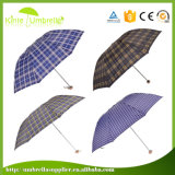 Hot Sale Digital Printing Manual Open and Close 3 Fold Umbrella