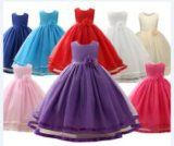 China Wholesale Cheap High Quality Long Evening Wear Baby Kids Girl Children Party Dress