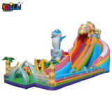 Large Square Children's Chameleon Inflatable Recreation Slide Bouncy Castle Bouncer