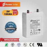 2V 100ah Exide Battery 2 Volt 100ah Lead Acid Batteries with Long Warranty Time