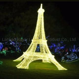 LED Motif Lights Commercial Lighting Project Outdoor Eiffel Lighting Decoration