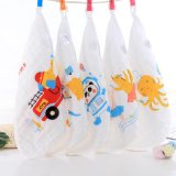 Good Price Custom Made Printed Children Small Square Towel 100% Cotton Cartoon Face Towel