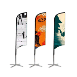 2020 Cheap Made Flags Outdoor Promotional Flags and Banners Advertising Custom Flag Printed Feather Banner