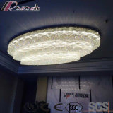 Round Big Size White Crystal ceiling Lamp for Hotel