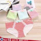 Summer Candy Ventilate Lacework Plaid Young Girls Underwear Ladies Lingerie Panty