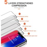Curved Tempered Glass Screen Protector for iPhone Series, Anti-Scratch Anti-Fingerprint, 3dtouch Compatible 9h 5D Curved Mobile Phone Toughened Glass Film