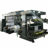 Roll Paper Film 4 Color Flexographic Printing Machine High Speed High Precision