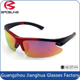 Anti UV400 Cat 3 Red Lens Mens Sport Glasses