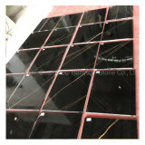 China Natural Stone Black and Gold Marble Black Portoro Marble for Slab/Ceramic/Kitchen/Bathroom/Construction Material/Floor Wall Tile