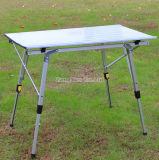 Outdoor Folding Table, Aluminum Alloy Portable Picnic Table