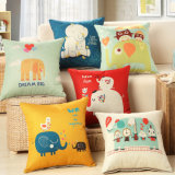 Popular Cotton Linen Printed Cushion Cover Throw Pillow Case Without Stuffing Sqaure 18 Inch 45cm