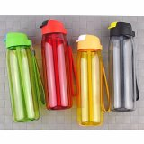 Plastic Tumbler with Straw Custom Water Bottle with Handle 750ml