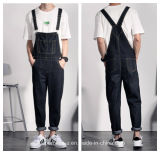 High Quality Men's Long Cotton Pants Casual Denim Overalls