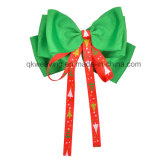 Children Colorful Girls Hair Bows Christmas Ribbon Hair Clip on Hair