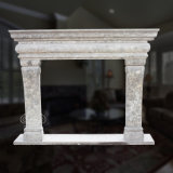 Greatful White Marble Fireplace with Fine Hand-Carved Quality, Simple Style