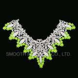 Fashion Garment Embroidered Lace Collar with Mesh Design Three-Colour Fabric