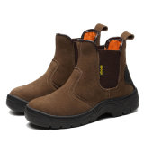Rubber Sole Steel Toe Safety Boots with Leather