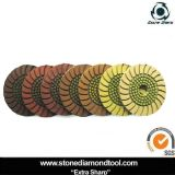 4 Inch Copper Material Diamond Resin Sunflower Wet Polishing Pads