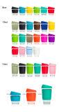 8oz 12oz 16oz Candy Color Smile Glass Safe Coffee Cup Coffee Smile Print Mugs Travel Reusable Glass Cup