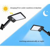48 LED 500 Lm Solar Lamp Human Body Induction Wall Light 3 Modes Dimmable Outdoor Garden Yard Path Lamp Remote Control Rotate
