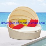 Wholesale Outdoor Garden Pool Furniture Sofa Bed Rattan Sun Lounger Daybed Leisure Beach Swimming Pool Sunbed Lounge Day Bed Aluminum Folding Round Sun Bed