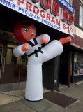 Promotion Inflatable Taekwondo Kongfu Karate Girl Status for Sale