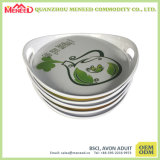 Round Shape Custom Design Full Print Melamine Trays