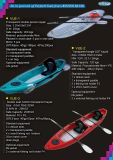 Transparent Bottom Clear Single/Double Paddling Plastic Kayak