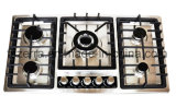 Gas Burner Built in Gas Hob for 5 Burner Kitchenware with Staliness Steel Panel Finsish