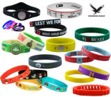 Cheap Custom Debossed Embossed Print Rubber Silicone Bracelet Silicone Wristband with NFC RFID