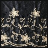 Velvet Chain Embroidery Lace Flower Chain Embroidery Two Side Embroidery