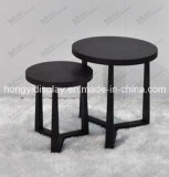 Black Color Round Table for Home Appliance, Cafe Furniture