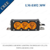 30W 6 Inch 6000K Waterproof LED Light Bar Single Row
