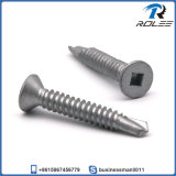 Disgo Plated Stainless Square Flat Head Bi-Metal Self Drilling Screw