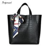 Cheap PU Bag Set Ladies Wallet for Women Handbag