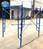European Scaffolding Frame Walk Thru Powder Coated Blue Frame with Fob Price