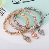 Fashion Zircon Diamond Multilayer Skull Shaped Bracelet Bangle Jewelry