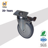 Wholesale Trolley Caster 4 or 5 Inch TPR Wheels with Brake