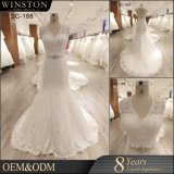 New 2018 Beaded Wedding Dress Mermaid Lace Applique Bridal Dress Backless Wedding Gown