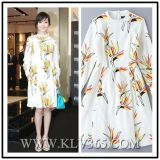 Latest Dress Design Women Fashion Floral Printed Coat Style Dress