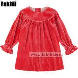 Winter Orange Baby Kids Pullover Velvet Dress Kid Knit Apparel