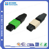 MPO/PC Fiber Optic Connector for Ribbon and Round Cable