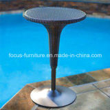 Black Round Outdoor Hotel Garden Patio Wicker Rattan Table (FS-WBS002)