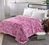Top Class Anti-Pilling Raschel Blanket with Floral Design